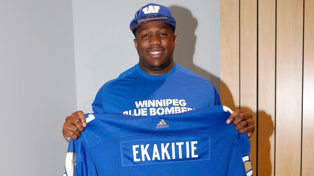 Faith Ekakitie was reportedly in contract talks with the Winning Blue Bombers prior to the draft.