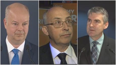 PC Leader Jamie Baillie, NDP Leader Gary Burrill, Liberal Leader Stephen McNeil