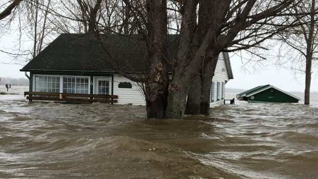 Gilles Leroux has owned this three-bedroom cottage on the Ottawa River, seen on May 8, 2017, for the past 17 years. He's ineligible for disaster relief because the cottage is not his primary residence.