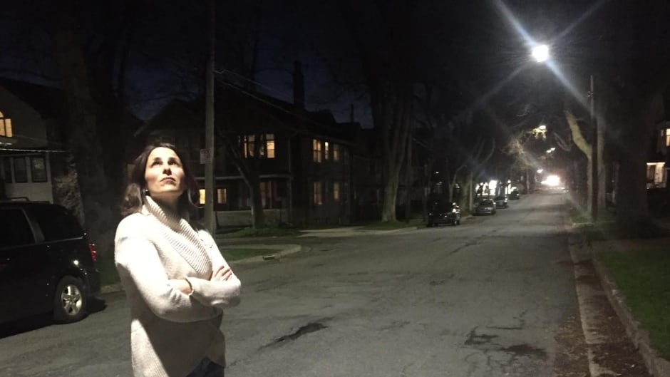 Halifax resident Hillary Harris says her whole family is awake due to the new LED street lights the city installed right across from her front porch.