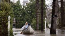 Ile Mercier flooding