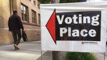 B.C. polling station sign