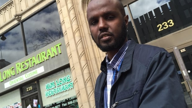 Ahmed Aden Ali, 37, denies he assaulted a CBSA officer at the Emerson, Man., border crossing on April 8 and hopes Canada will give him another chance to stay here.