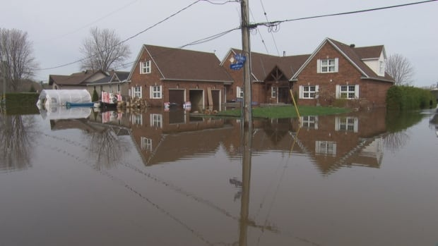 Genevieve Landry's home on Leo Lane in Cumberland after the spring flood. Landry says the government has not been helpful as she tries to apply for provincial relief.