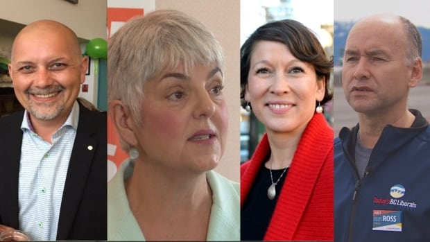 Elected Indigenous members heading to Victoria: Adam Olsen — Green (Saanich North and the Islands), Carole James — NDP (Victoria-Beacon Hill), Melanie Mark — NDP (Vancouver Mount Pleasant), and Eliss Ross — Liberal (Skeena).