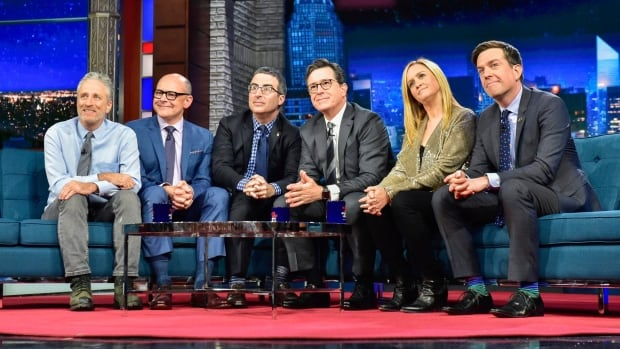 The Late Show's Stephen Colbert welcomes fellow Daily Show alums