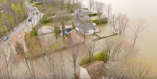 Flooding video taken from drone