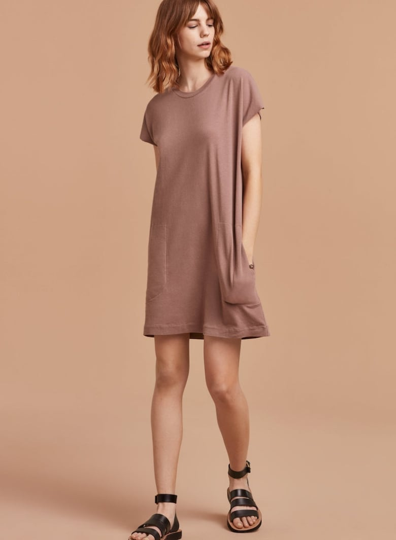 4ed94a47a6f0 What s better than a loose t-shirt dress  You guessed it  a loose t-shirt  dress with pockets! Made with super soft recycled cotton