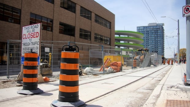 LRT construction continues in downtown Kitchener. Final paving operations are underway in some areas of Kitchener-Waterloo and work to install the Grand River Transit bus shelters is still also ongoing.