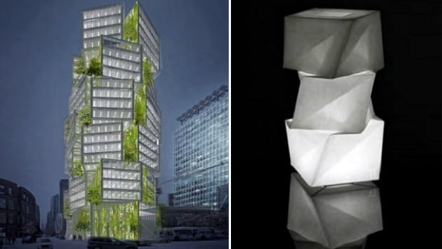 The design of the building planned for the corner of West Georgia and Homer is inspired by a lamp designed by 20th century Japanese artist Isamu Noguchi.