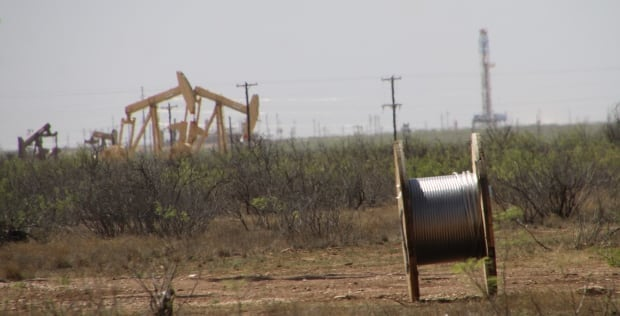 Permian basin pump jacks and rigs