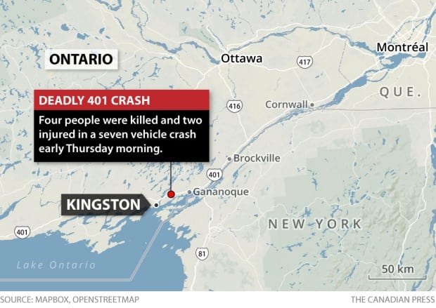 Truck driver charged in Hwy. 401 crash that left four dead