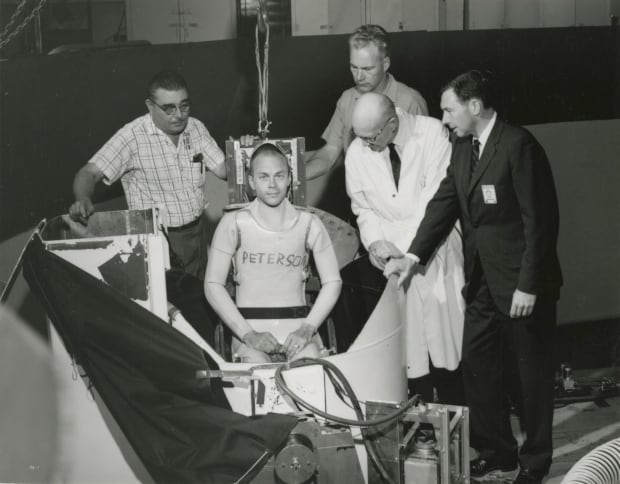 Donald Peterson in Centrifuge Tank