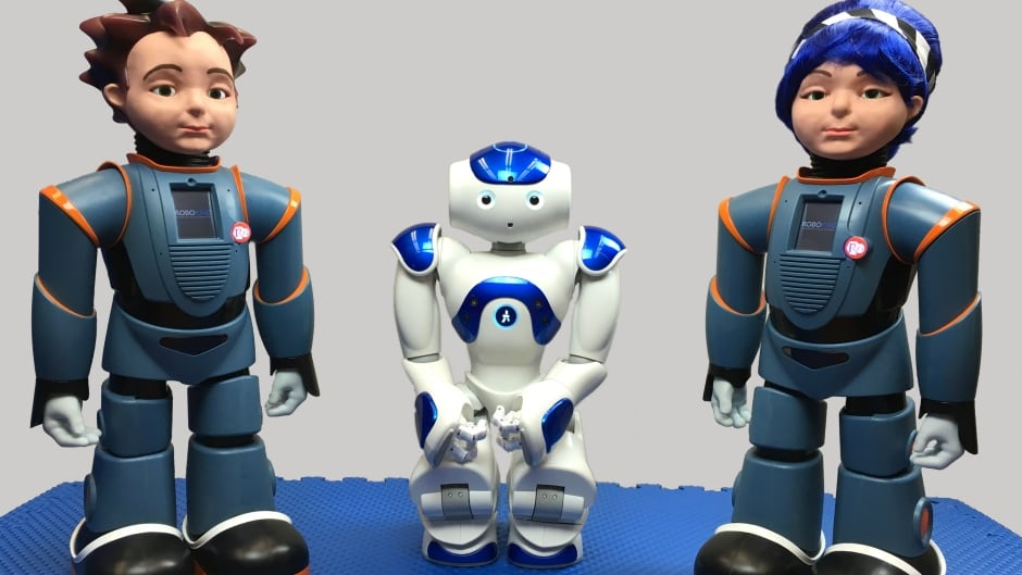 Robots like these are being used to interview children suspected of suffering abuse.