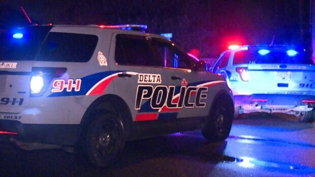 Delta police investigate a crash in 8200-block of River Road.