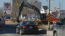 Road construction in Winnipeg