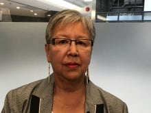 Indigenous Senators Lillian Dyck (L) and Sandra Lovelace Nicholas, along with other advocates, are urging the Liberal government to change Bill S-3, and to accept a Senate amendment that would eliminate sex-based discrimination under the Indian Act.