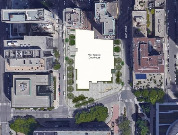 Aerial map New Toronto Courthouse