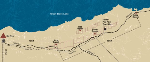 PINE POINT map