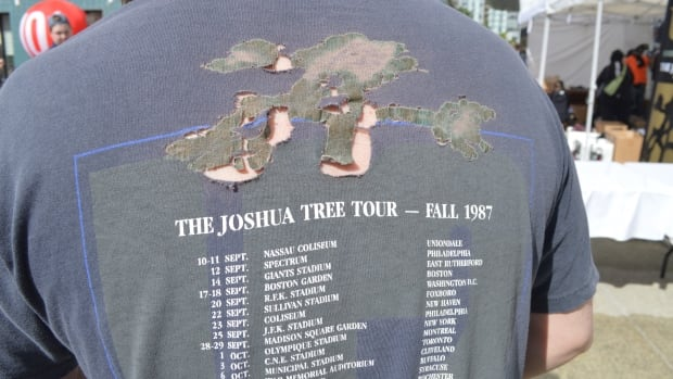 Seattle's Eric Riddle still has his 1987 U2 Joshua Tree t-shirt and wore it to the 2017 version of the tour in Vancouver.