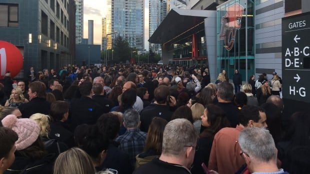 At 7:45 p.m. Friday night, lines were still snaking through Terry Fox Plaza to get into BC Place.