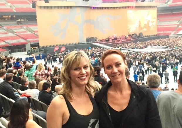 Larrisa Rutquist at U2 concert Vancouver