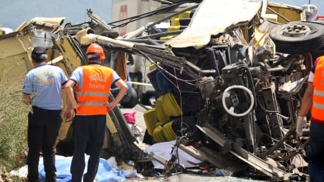 Tour bus crash kills at least 24 in Turkey