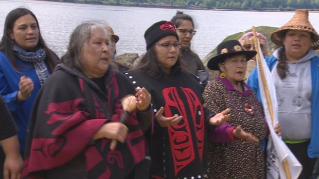 Tsleil-Waututh Nation water blessing 14 May 2017 Burrard Inlet