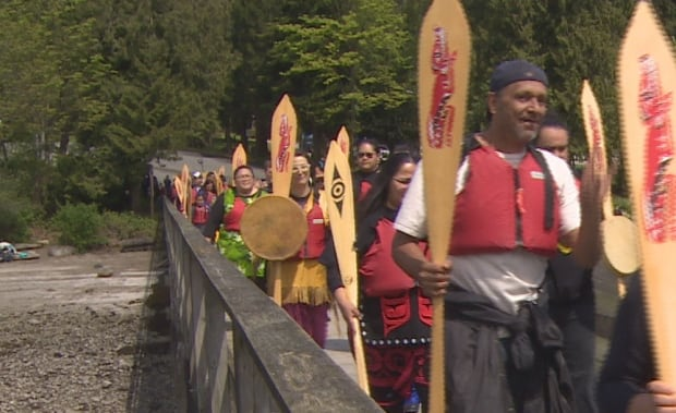 Tsleil-Waututh Nation water ceremony paddlers