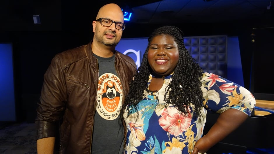 Actress and author Gabourey Sidibe and Ali Hassan in the q studios in Toronto, Ont.