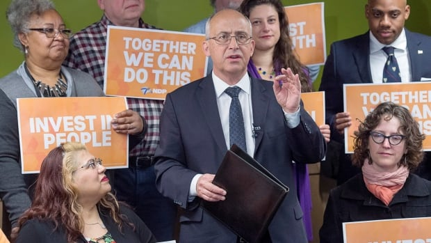 Nova Scotia NDP Leader Gary Burrill released his party's platform on Monday.