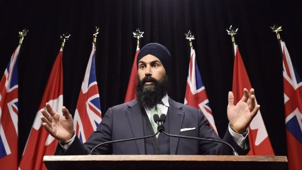 NDP MPP Jagmeet Singh speaks at Queen's Park in Toronto on October 28, 2015. He was elected in 2011 and is poised to make the jump to federal politics by running for the federal NDP leadership.