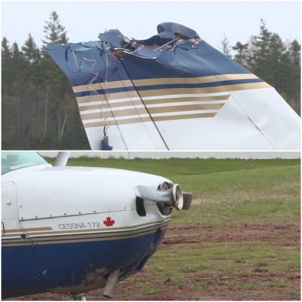 plane crash damage
