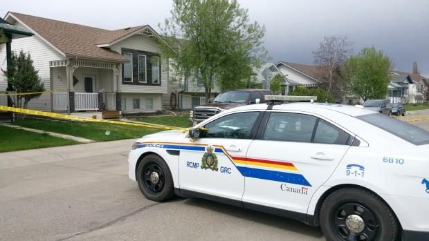 Police were called to this Red Deer home on Sunday afternoon where they found the bodies of a six-year-old girl and her 39-year-old father.