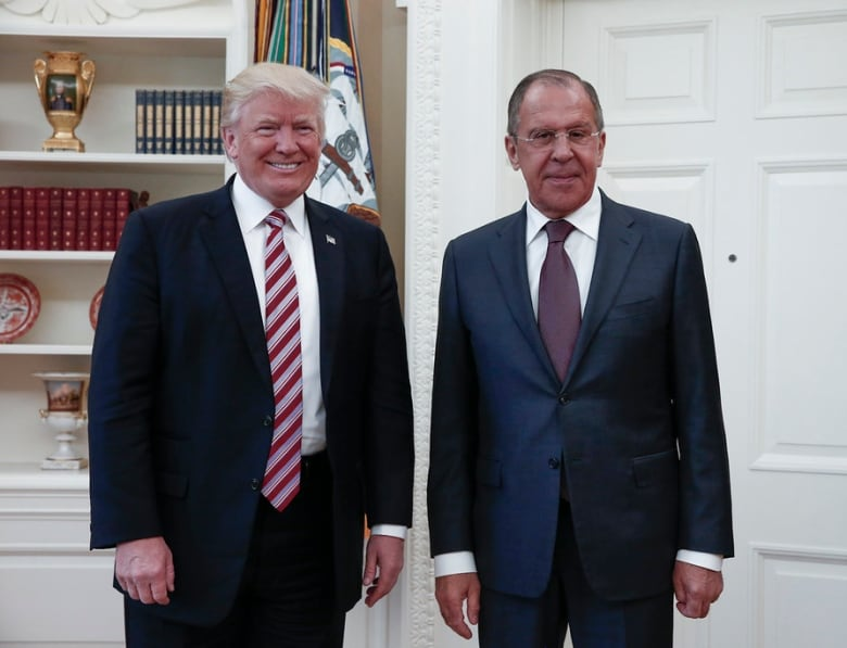 Trump met with Russian Foreign Minister Sergey Lavrov at the White House in May 2017