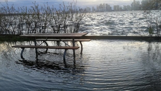 With water levels set to go up, this once-perfect picnic spot may not be available for warm weather visitors and residents on the islands for another month and a half.