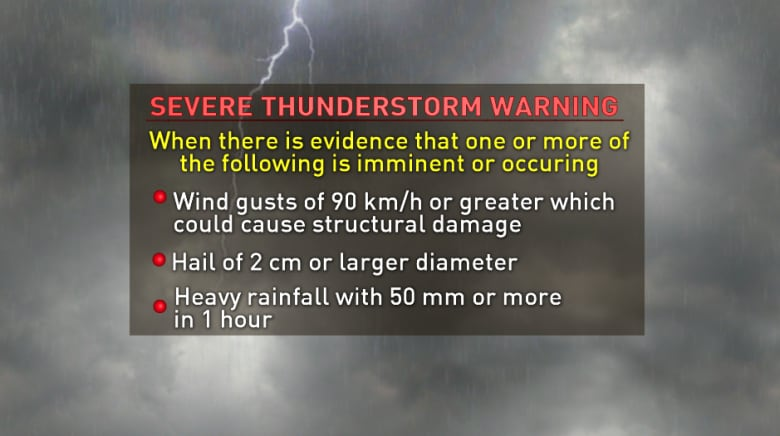 What is the difference between a weather watch and warning?   CBC News