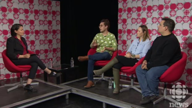 CBC's Rosanna Deerchild speaks with Joshua Whitehead, Jaimie Isaac and Niigaan Sinclair, left to right, about their views on the 'appropriation prize' controversy and what cultural appropriation means to them.