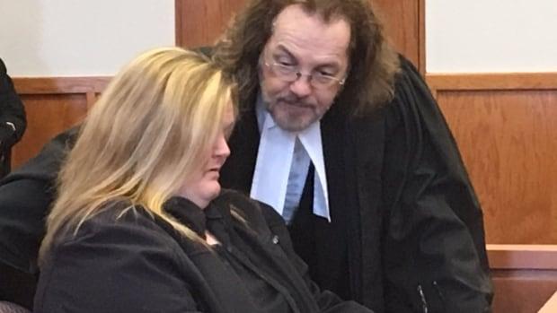 Pamela Pike in court in Grand Falls-Windsor on Wednesday morning.