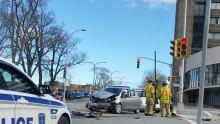 Halifax police patrol car crash