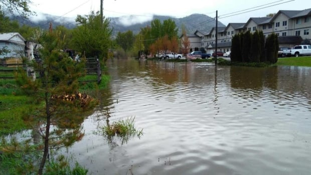 Merritt residents are being advised to keep sandbags in place until water levels recede completely.