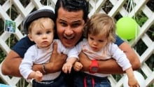 Shawn Thorn with his godsons