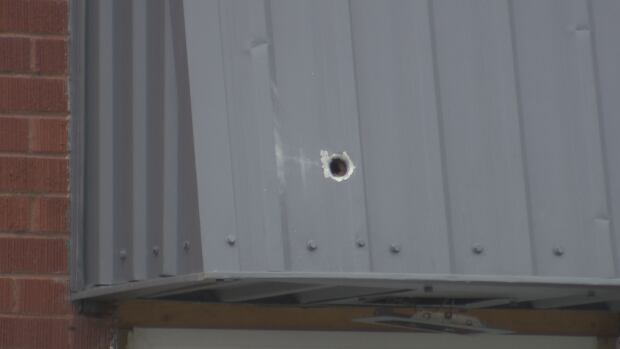 Bullet hole Watson Street shooting