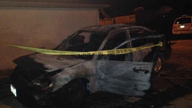 Denise Hoffman's 2003 Honda Civic was torched early Monday morning. Winnipeg Police said hers was the first of three car arsons in the area.