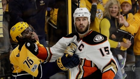 APTOPIX Ducks Predators Hockey