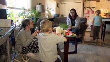 Debbie Ironbow and grandkids