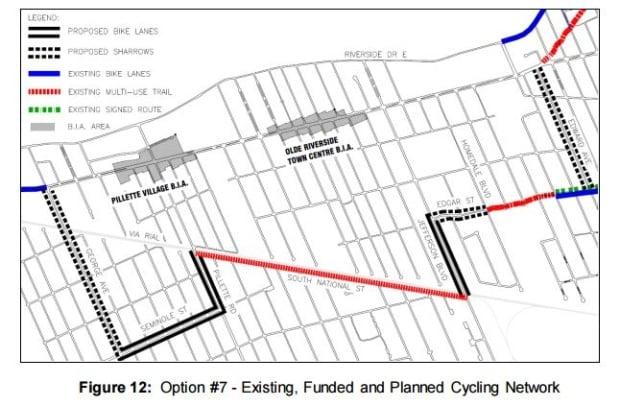 Cycling Windsor, option 7 Wyandotte