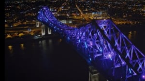 Round 2 for Jacques Cartier bridge light show is tonight