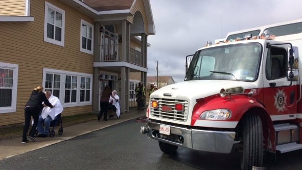 Seniors were allowed back into the Golden Years Estate in Gander after a brief evacuation due to a small electrical fire Thursday morning.