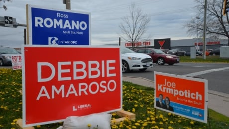 Sault Ste. Marie by-election signs